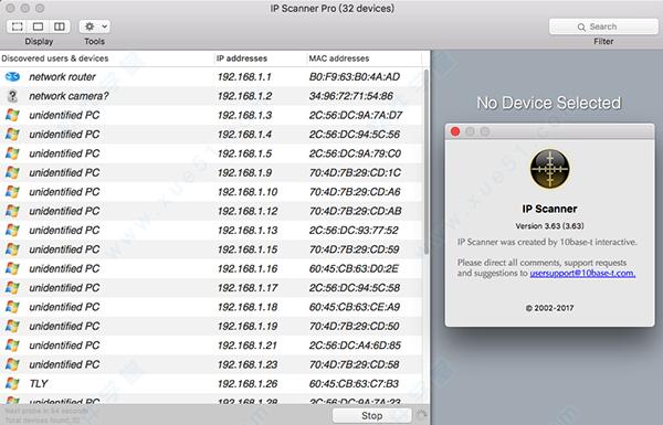 ip scanner for mac|ip scanner Pro for mac 破解版下载(附注册码) v3 63