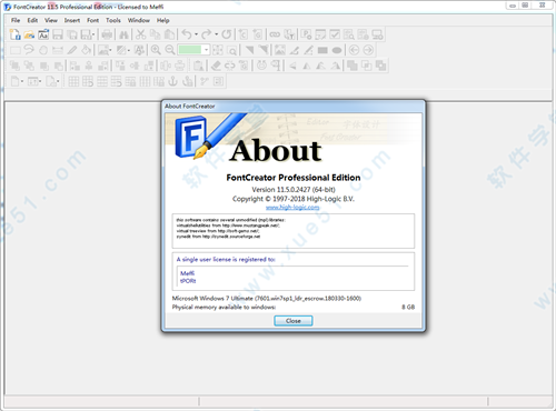 fontcreator 11 registration code